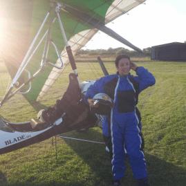 1st Flexwing flight at Carr