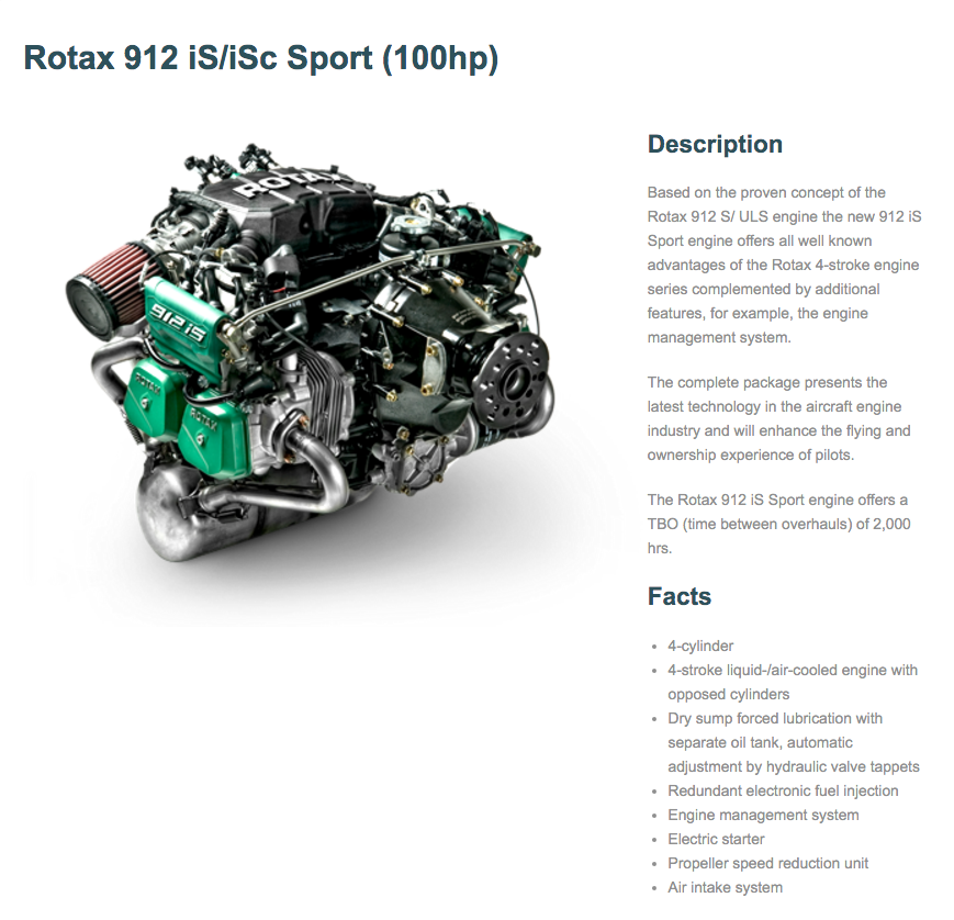Rotax 912 iS/iSc Sport (100hp) - Eccleston Aviation