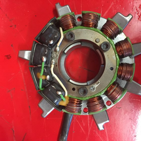 Removed Stator plate