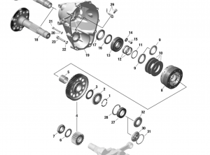PROPELLER GEAR ASSY. WITH OVERLOAD CLUTCH